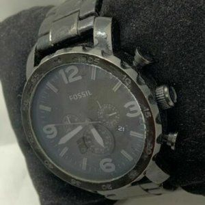 Fossil Men's Stainless Steel Black Dial Watch D858
